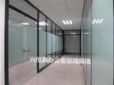 深圳定做高档玻璃门豪华办公室玻璃门