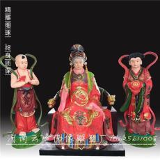 三霄娘娘神像1.8米 三霄仙姑佛像