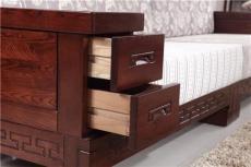 濟南環保實木中式沙發 1+2+4布藝組合沙發