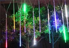 街道流行流星雨掛件彩燈
