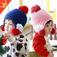 棒棒帽业 加厚款宝宝毛线帽批发 冬季童帽