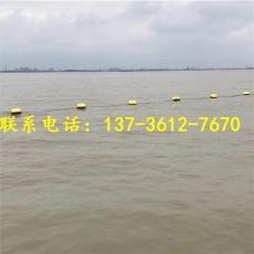 黔江河道改造拦污漂排垃圾拦截浮筒