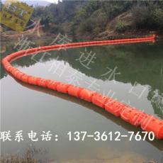 三岔河水葫芦拦截浮漂塑料浮筒图片