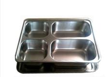 不锈钢四格快餐盒