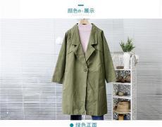 供应天津聚金服饰商城韩版女式风衣外套批发
