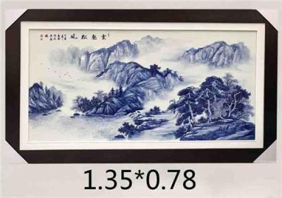青花瓷板 纯手工瓷板画
