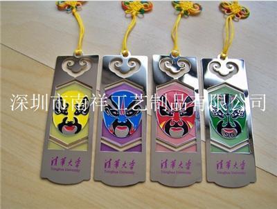 深圳珠海纯铜楼书签生产厂脸谱书签定做批发