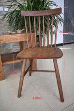 白茬北歐簡約日系實木大小溫莎牛角靠背餐椅