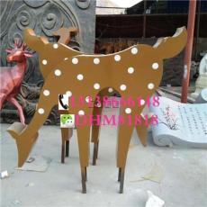 玻璃钢招财抽象鹿树脂剪影梅花摆件鹿雕塑像