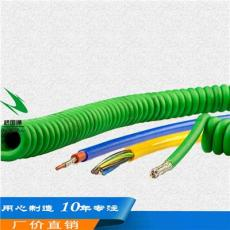 机械设备专用螺旋电缆抗拉耐磨防油延伸线缆
