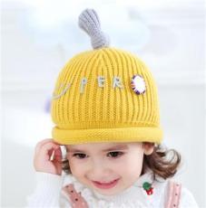 棒棒帽业秋冬新款婴幼儿毛线帽批发