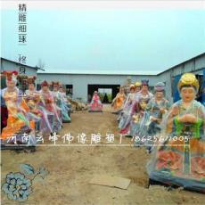 树脂贴金佛像十二老母 地藏老母神像