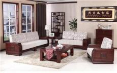 客廳純實木框架大氣可拆洗沙發現代新中式