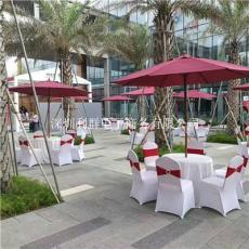 深圳塑膠圓桌啤酒桌休閑戶外塑料圓桌出租賃
