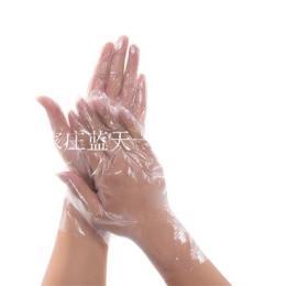 0.8克透明塑料pe薄膜手套