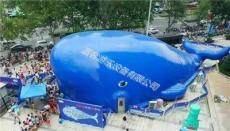 河北游乐充气鲸鱼岛海洋球儿童乐园