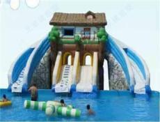 水上乐园设备 水上滑梯 充气水池 支架水池