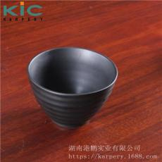 陶瓷料理碗哑光磨砂日本味噌汤碗4.5寸黑碗