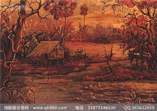 广东酒店大堂壁画厂家 岁月无情 漆艺传承
