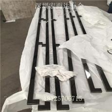 廠家直銷不銹鋼拉手中式玻璃門把手方管
