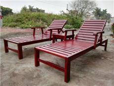 常德休閑躺椅扶手實木沙灘椅張家界木制躺椅