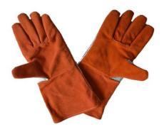 耐高溫手套牛皮鋁箔電焊隔熱手套耐磨