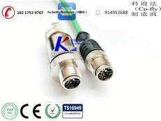 以太网M12圆形接插件X-coding物联通信接头