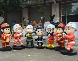湛江玻璃钢消防员人物雕塑