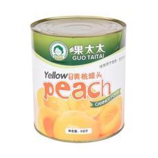 果太太 糖水黃桃條罐頭-潤恒 罐裝黃桃罐頭