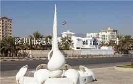 海洋馆美陈装饰玻璃钢海螺雕塑
