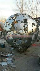 不銹鋼鏤空植物圓球 鏤空花葉圓球雕塑