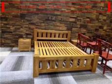 老榆木家具床