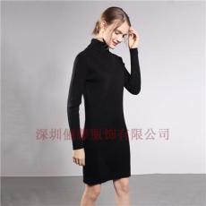 深圳新款女士紅色開衫毛衣長款外套