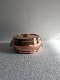 18cm 紫铜加厚分餐电磁铜火锅 个人小火锅