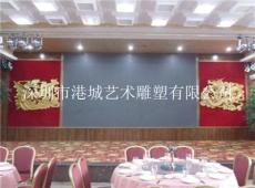 深圳宝安五星级酒店玻璃钢龙凤雕塑