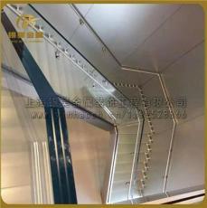 供应上海弧形楼梯精致发光楼梯玻璃楼梯