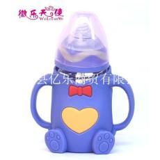 微樂天使寬口徑彎頭玻璃奶瓶