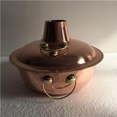 直径18cm 紫铜加厚 电磁炉铜火锅分餐小火锅