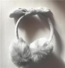 寧波景余針織帽子圍巾手套耳罩工廠假毛耳罩