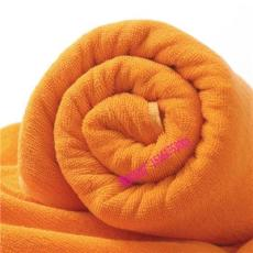 江苏酒店毛巾厂家纯棉桔黄色32支双股线浴巾