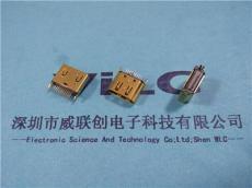180度立式鱼叉 19P HDMI母座 磷铜镀金 LPC
