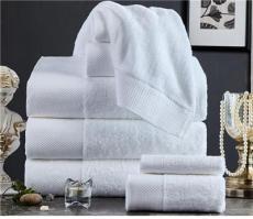 酒店毛巾厂家五星级酒店16支铂金缎毛巾浴巾