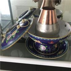 直徑30cm 景泰藍純手工木炭銅火鍋