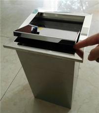 高檔桌面隱藏式臺面垃圾桶 方形帶蓋收納桶