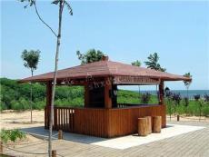 公园防腐木质岗亭厂家定制 景区木质售货亭
