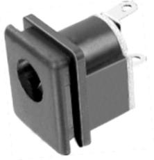 DC 電源插座系列 DC-015 立式插板 黑膠