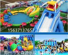 大型充氣水池樂園 組合滑梯 城堡等游樂設備