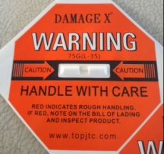 衡水国产DAMAGE X防震动显示标签采购