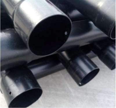 厂家直销热浸塑钢管价格 山东黑色涂塑钢管