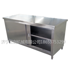 不锈钢工作台厨房专用桌子拉门工作台储物柜